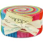 Moda Basics Marbles Citrus Jelly Roll, 40 2.5x44-inch Cotton Fabric Strips