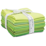 Moda Bella Solids Green Fat Quarter Bundle
