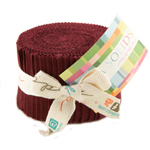 Moda Bella Solids Burgundy Junior Jelly Roll