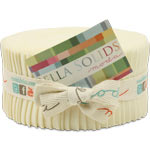 Moda Bella Solids Snow Jelly Roll