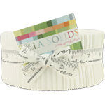 Moda Bella Solids White Bleached Jelly Roll