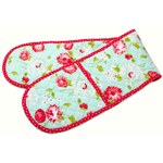 Moda Home The Good Life Double Oven Mitt Aqua by Bonnie & Camille