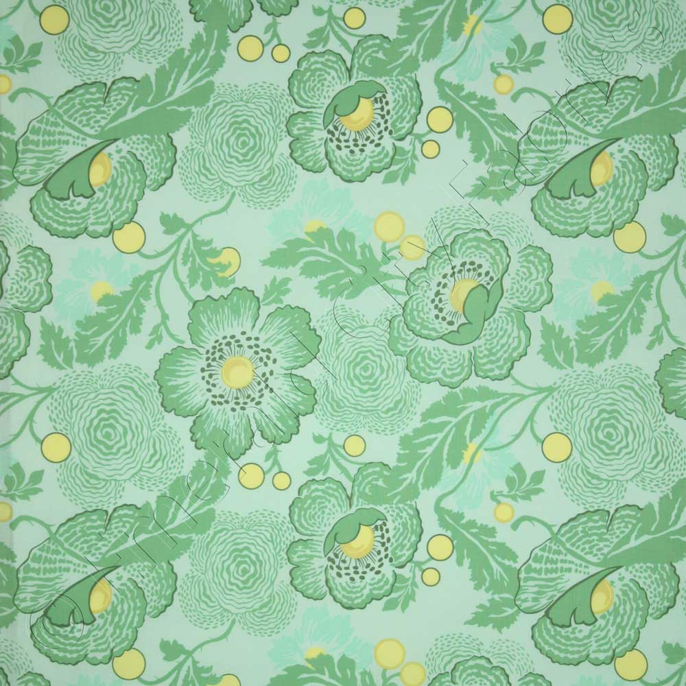 Amy Butler Home Decor Fabric Amy Butler Midwest Modern 2 Fresh Poppies Sky Green Fabric