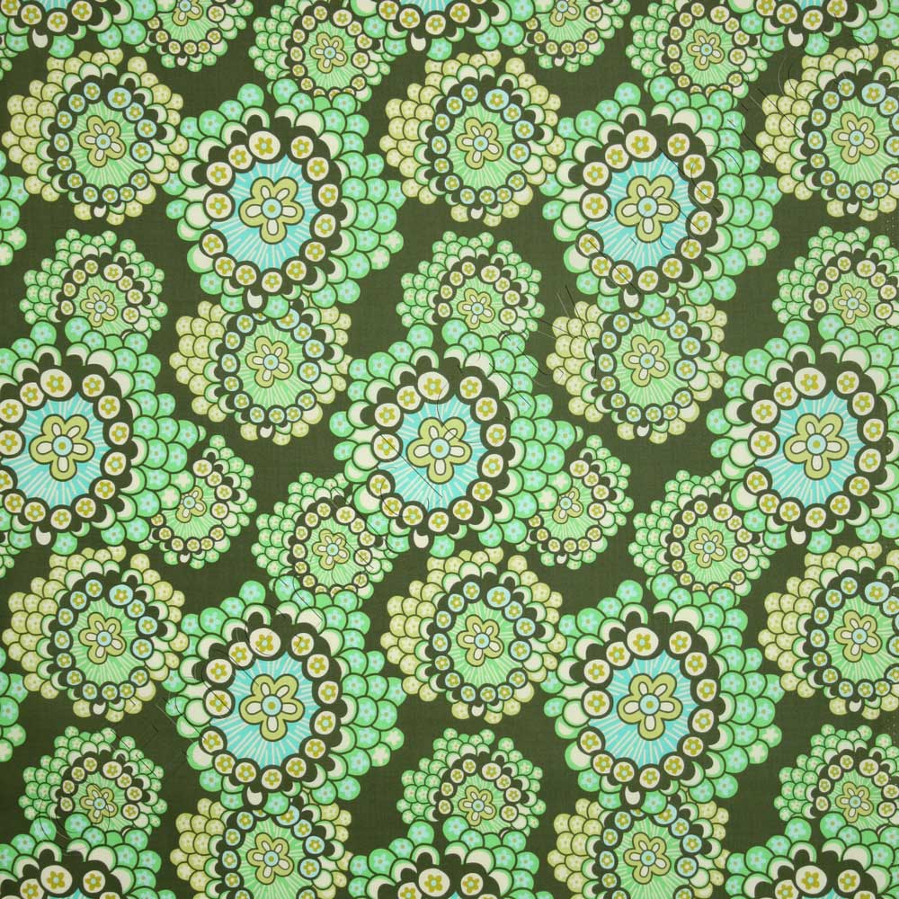 Amy Butler Home Decor Fabric Amy Butler Midwest Modern 2 Dandelion Field Forest Green Fabric