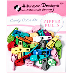Atkinson Designs Zipper Pulls Candy Color Mix