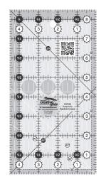 Creative Grids Quilt Ruler 4-1/2in x 8-1/2in by Rachel Cross CGR48