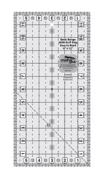 Creative Grids Basic Range 6in x 12in Rectangle Quilt Ruler by Rachel Cross CGRBR5