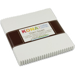 Robert Kaufman Kona Cotton White Charm Pack