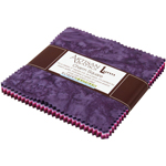 Robert Kaufman Artisan Batiks Prisma Dyes Plum Perfect Charm Pack by Lunn Studios