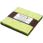 Robert Kaufman Artisan Batiks Prisma Dyes Rainforest Green Charm Pack by Lunn Studios