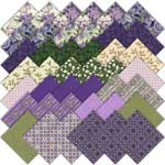 Robert Kaufman Country Manor Violet Charm Pack by Darlene Zimmerman