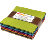 Robert Kaufman Kona Cotton Solids Dusty 101 Charm Pack