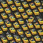 Timeless Treasures New York City Taxi Cabs Black Fabric