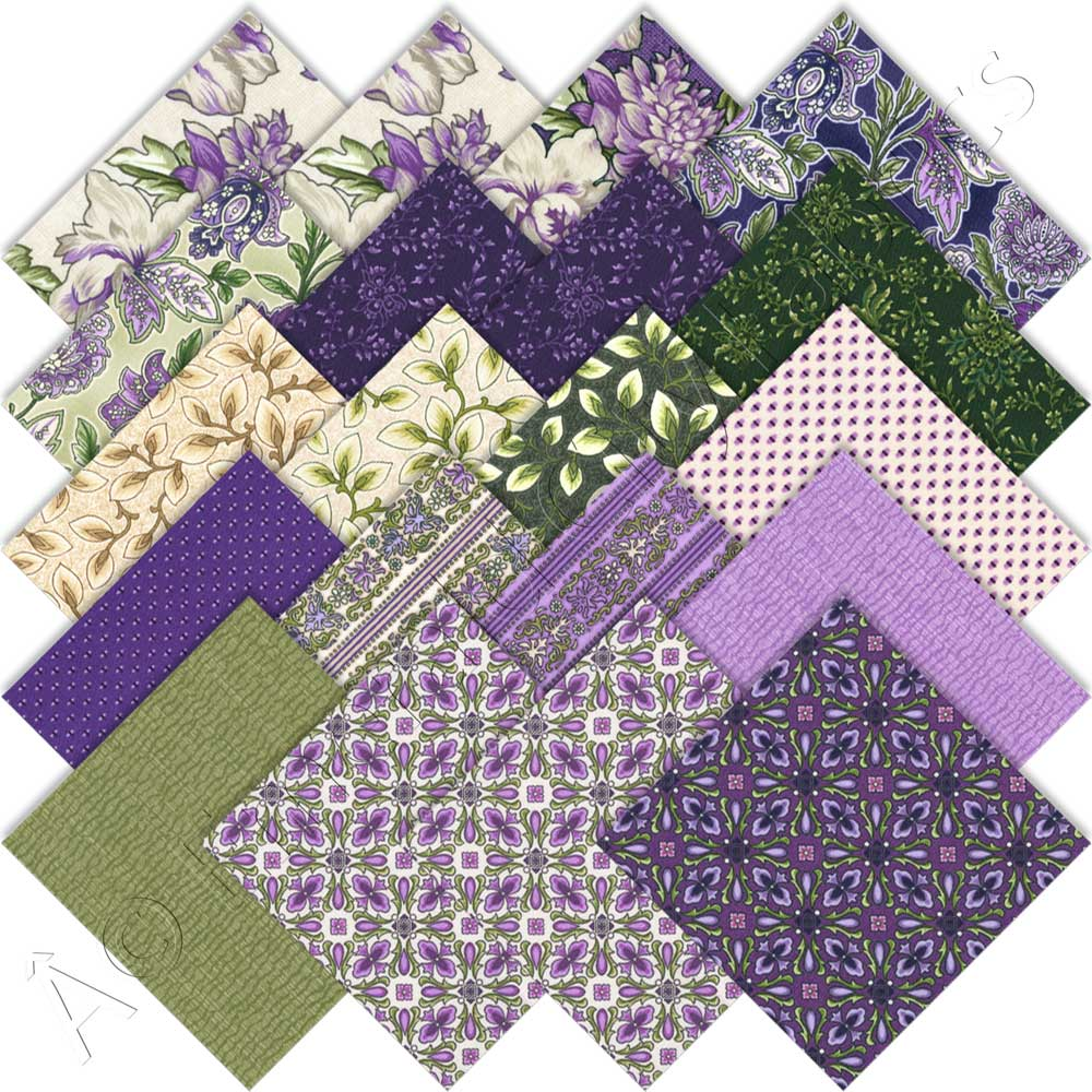 Robert Kaufman Country Manor Violet Charm Roll By Darlene