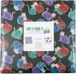 Benartex Cat-I-Tude II PurrFect Together Layer Cake by Ann Lauer