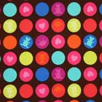 Michael Miller Playdate Gum Drops Chocolate Fabric