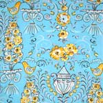 Free Spirit Tea Garden Honey Bush Blue Fabric