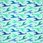 Free Spirit Zoo Menagerie Giraffes Blue Fabric