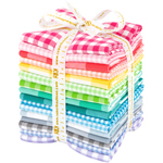 Robert Kaufman Carolina Gingham Bright Palette Fat Quarter Bundle