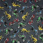 Timeless Treasures Harley Davidson Motorcycles Steel Gray Fabric