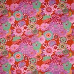 Kaffe Fassett Fabric by the Yard Asian Circles Tomato