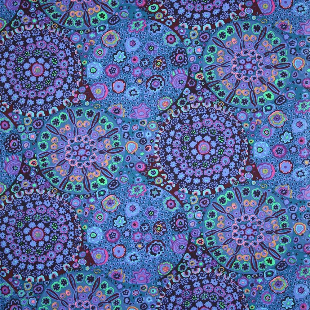 Kaffe Fassett Millefiore Blue Fabric Emerald City Fabrics