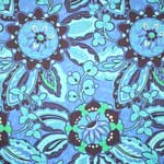 Amy Butler Soul Blossoms Trailing Orchid Blue Velvet Upholstery Fabric
