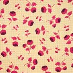 Free Spirit Ginseng Tossed Flowers Camel Upholstery Fabric