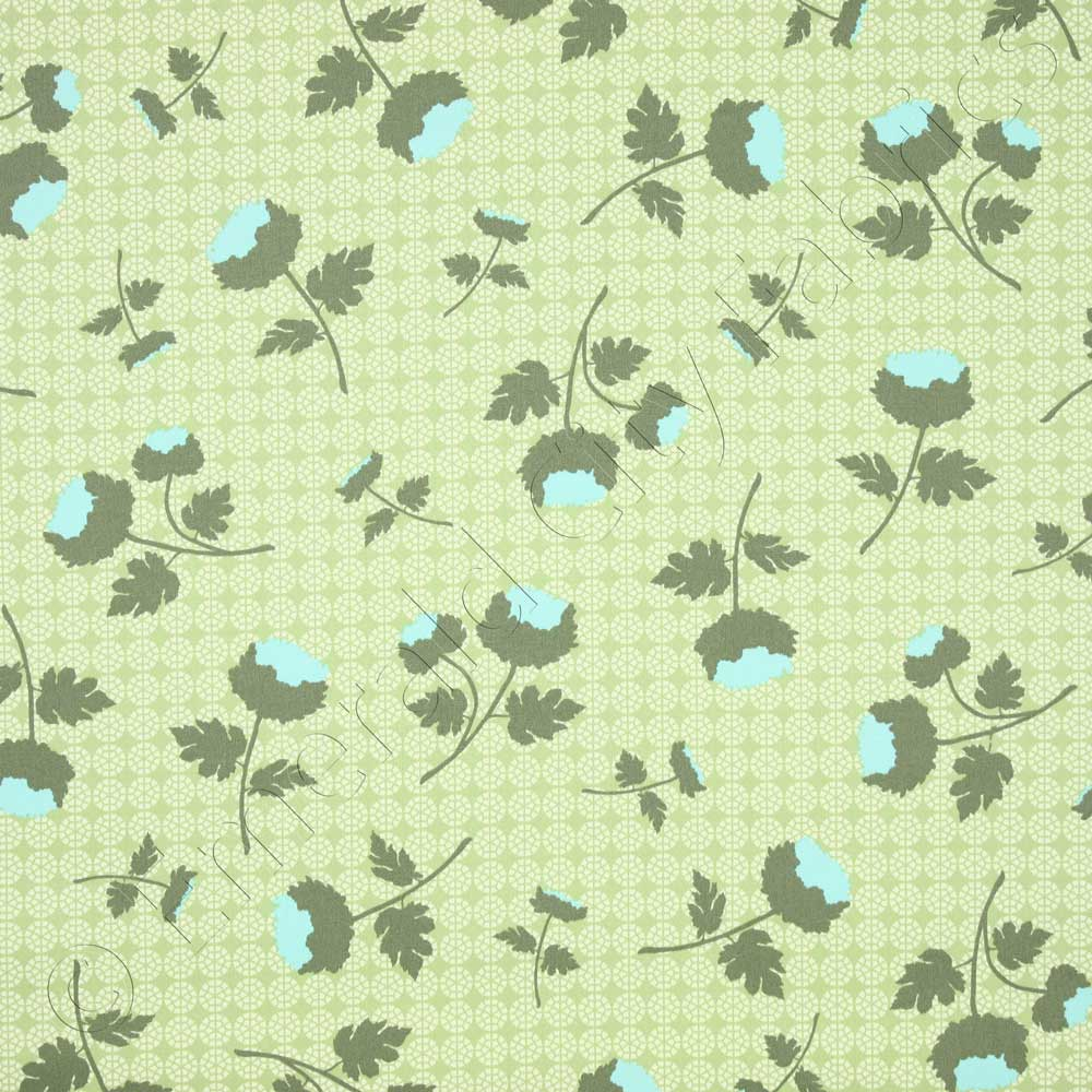 Free Spirit Ginseng Tossed Flowers Celery Fabric By The Yard Cotton