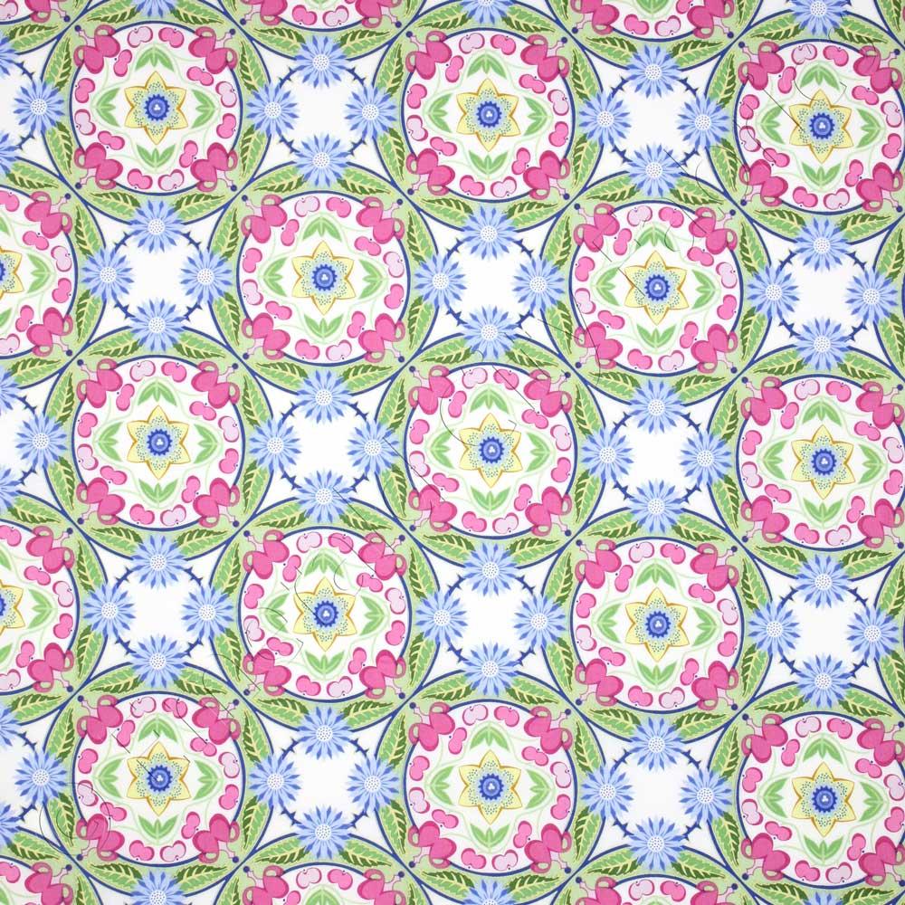 Free Spirit Garden Divas Spring Wreath Pastel Fabric