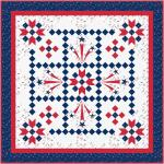 Maywood Studio Red, White & Bloom Liberty's Smile Quilt Kit by Kim Christopherson