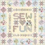 Maywood Studio Measure Twice Sew Fun Quilt Kit by Kris Lammers