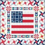 Maywood Studio Red, White & Bloom Small Town America Quilt Kit by Kim Christopherson