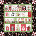 Maywood Studio We Whisk You a Merry Christmas! Quilt Kit Black Embroidery Version by Kim Christopherson