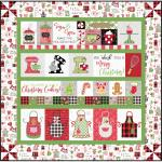 Maywood Studio We Whisk You a Merry Christmas! Quilt Kit White Embroidery Version by Kim Christopherson