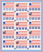 Moda Catalina Stars and Stripes Forever Quilt Kit by Fig Tree & Co.