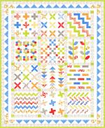 Moda Figs & Shirtings Stichery Sampler Quilt Kit by Fig Tree And Co