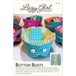 Lazy Girl Designs Button Boats Pattern by Joan Hawley