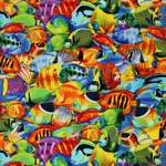 Timeless Treasures Tropical Fish Multi Fabric