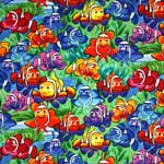 Timeless Treasures Clownfish Multi Fabric