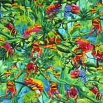 Timeless Treasures Chameleons Green Fabric