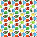 Timeless Treasures Mini Turtles White Fabric