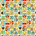 Timeless Treasures Mini Owls Flannel Beige Fabric