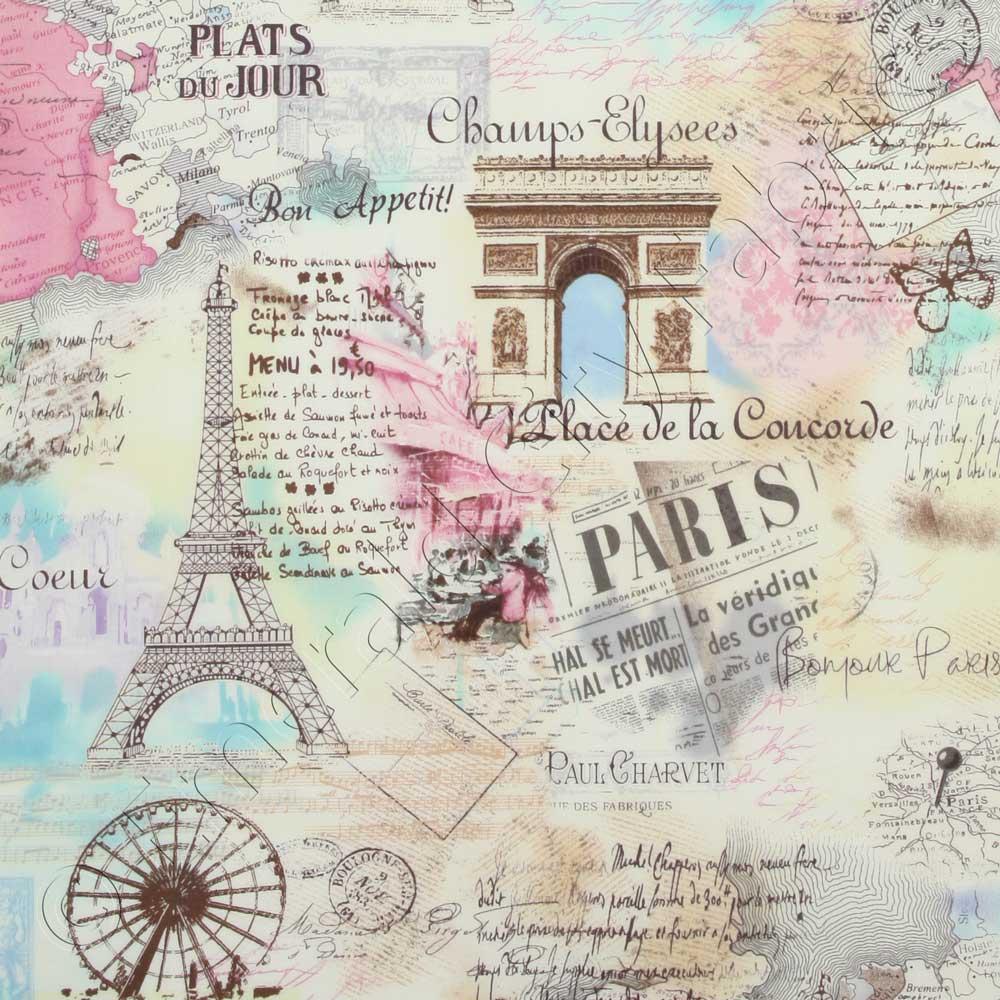 Timeless Treasures April In Paris Pastel Fabric Emerald