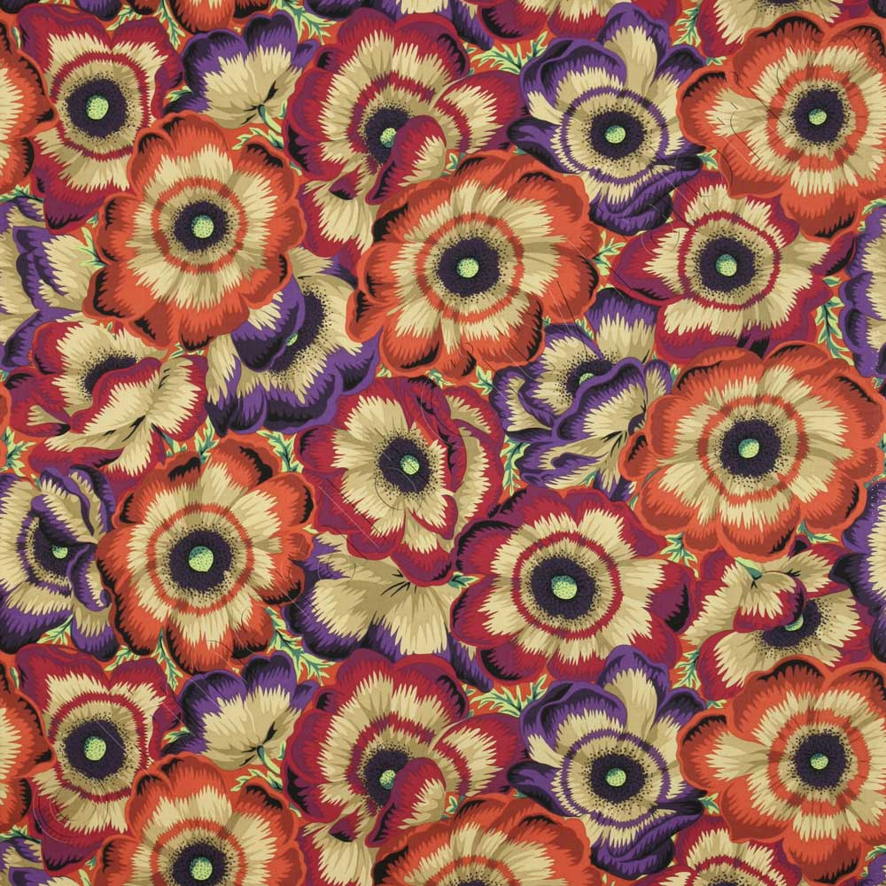 Kaffe fassett collective waltzing matilda dark fabric for Textile fabrics