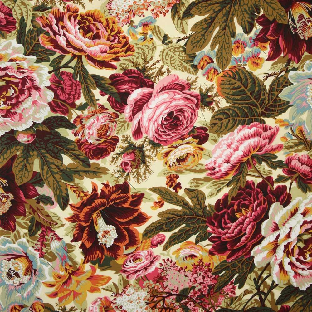 339cedc96a2013 Kaffe Fassett Collective Floral Burst Natural Fabric