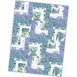 Maywood Studio Watercolor Hydrangeas Corner Cabin Quilt Pod Kit