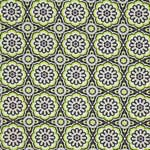 Anthology Bonjour Medallions Green and Brown Fabric
