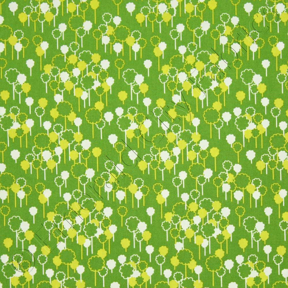 Anthology the woodlands forest green fabric emerald city Coloring book fabric by the yard