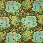 Amy Butler Belle Gothic Rose Blue Fabric